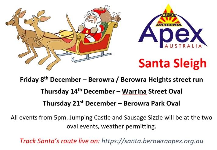 Santa Sleigh poster - Berowra 2017
